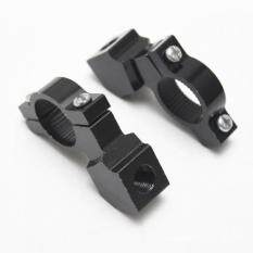 ราคา Bolehdeals Pair Motorcycle Motorbike 10Mm Handlebar Mirror Mount Clamp Bracket Black Intl ถูก