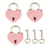 ราคา Bolehdeals Set Of 3 Vintage Heart Shape Padlock With Keys Travel Locker Set Pink M Intl เป็นต้นฉบับ