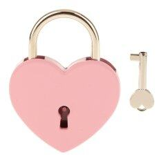 ขาย Bolehdeals Vintage Personalized Heart Shape Padlock With Key Travel Locker Set Pink L Intl เป็นต้นฉบับ