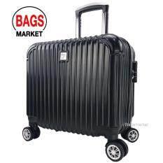 ส่วนลด Bolom กระเป๋าเดินทางล้อลากหน้านูน 16 นิ้ว 4 ล้อ หมุนรอบ 360° Polycarbonate Abs Code Pca68016 1 Black Bolom