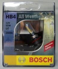 ราคา Bosch หลอดไฟหน้ารถยนต์ Hb4 55W รุ่น All Weather Plus สำหรับหลอดไฟหน้า และ ไฟตัดหมอก Bosch Th