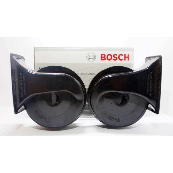 ราคา BOSCH แตรหอยโข่ง W90 (12V) สีดำ(โทนเสียงต่ำ-สูง)