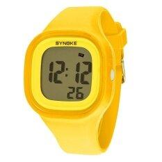 ราคา Bounabay แบรนด์สาวแฟชั่นกีฬา Led ดิจิตอลซิลิโคนเจลลี่น้ำดิจิตอลนาฬิกาข้อมือ นานาชาติ Bounabay เป็นต้นฉบับ
