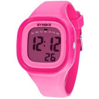 Bounabay แบรนด์สาวแฟชั่นกีฬา LED ดิจิตอลซิลิโคนเจลลี่น้ำดิจิตอลนาฬิกาข้อมือ - นานาชาติ