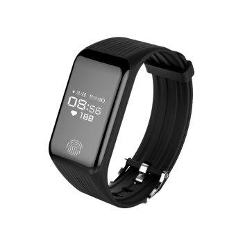 Bounabay ยี่ห้อสมาร์ทสายรัดข้อมือ IP67 กันน้ำฟิตเนสกีฬาติดตามนาฬิกาอัตราการเต้นหัวใจการตรวจสอบ 0.66 OLED หน้าจอบลูทูธสร้อยข้อมือ
