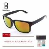 ราคา Bruno Dunn Brand หนุ่มแว่นกันแดดโพลาไรซ์ ผู้หญิงผู้ชาย แว่นตา Holbrook Grey Frame Red Lense ใน จีน