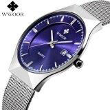 ราคา Brand Luxury Date Waterproof Men S Quartz Watch Men Sports Watches Male Stainless Steel Strap Wrist Watch Original Slim Clock Intl ใน จีน