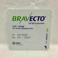 ขาย Bravecto สำหรับสุนัขน้ำหนัก 10 20 Kg ยากินกำจัดเห็บหมัด ไรขี้เรื้อน ไรหู ป้องกันได้นาน 3 เดือน X1 เม็ด Unbranded Generic ถูก