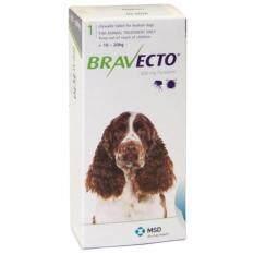 บราเวคโต/ Bravecto500มก.ยาเม็ดชนิดเคี้ยว1เม็ดกินแก้เห็บหมัดไรสุนัข10-20กกได้3เดือน