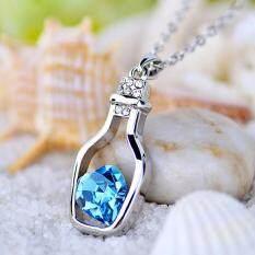 ทบทวน ที่สุด Bringjewelry สร้อยคอ พร้อมจี้รูปหัวใจในขวด น่ารักหวานๆเหมาะเป็นของขวัญ สีฟ้าอควา