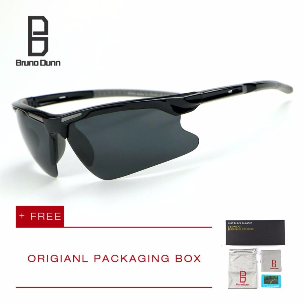 Bruno Dunn 2018 men sunglasses for sports hiking polarized eyewear brand designer clear fashion glasses 9011