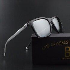 ซื้อ Bruno Dunn Aluminum Magnesium Alloy Polarized Sunglasses For Women Men Driving Sun Glasses Female 387 Gun Frame Silver Lense