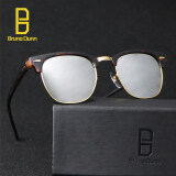 ราคา Bruno Dunn Luxury Metal Men Women Retro Brand Designer Sunglasses Fashion Sun Glasses Female Round Vintage Sunglases 3016 Leopard Frame Silver Mirror Lens Intl เป็นต้นฉบับ