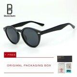 Bruno Dunn Woman Men Sunglasses 2017 Fashion Round Frame Mirror Lens Polarized Vintage Sun Glasses Brand Designer Eyewear 2180 Intl ถูก