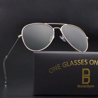 บรูโน่ dunn ผู้หญิงผู้ชายโพลาไรซ์แว่นตากันแดดนักบิน 3025 แว่นตากันแดด (กรอบทอง g15)-นานาชาติ
