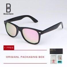 ส่วนลด Bruno Dunn ผู้หญิงผู้ชายแว่นตากันแดด Polarized เลนส์โบราณกระจกรูปไข่ Steampunk แบรนด์ออกแบบขับรถ แว่นตา 54Mm 2140 Black Frame Pink Lense Intl