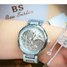 ราคา ราคาถูกที่สุด Bs100 นาฬิกาข่้อมือผู้หญิงแบรนด์สุดฮิต หน้าปัดฝังเพชร