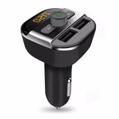 ราคา ราคาถูกที่สุด Bt20 Bluetooth Car Hands Free Fm Transmitter Dual Usb Car Charger Mp3 Player Support Tf Card Black Intl