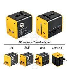 ขาย Bungord หัวแปลงขาปลั๊กทั่วโลก Adapter สามารถเสียบ Usb ได้ 2 Port พร้อมระบบกันไฟกระชาก Universal Plug รองรับกระแสไฟฟ้า 100 240 โวลต์ ออนไลน์