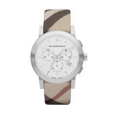 Burberry City Leather Strap Nova Check Watch Bu9357 ใหม่ล่าสุด
