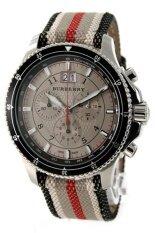 ส่วนลด สินค้า Burberry Endurance Mens Fabric Chronograph Watch Bu7600 Brown
