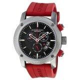ราคา Burberry Sport Chronograph Black Dial Red Rubber Mens Watch Bu7706 ใหม่