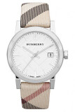 ซื้อ Burberry Women S Bu9113 Large Check Nova Check Strap Watch ออนไลน์