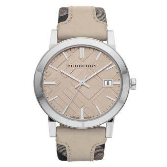 Burberry Women's Watch Leather and Canvas Strap BU9021 - Tan/Cream