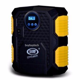 Buybuytech CAR eletric pump ปั๊มลมไฟฟ้าติดรถยนต์ ปั้มลม แบบพกพา อัตโนมัติ เครื่องเติมลม สูบลม เอนกประสงค์ ปั้มลม สูบลมจักรยาน ไฟฉายในตัว flashlight Carzkool2