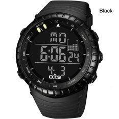 ราคา Buyincoins Men Sport Stainless Steel Led Digital Date Analog Military Wrist Watch Black Black Intl Buyincoins เป็นต้นฉบับ