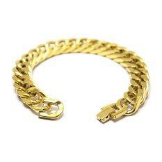 ขาย By Chae เลสข้อมือ สร้อยข้อมือ สแตนเลส สีทอง หน้ากว้าง 12 มิล ราคาถูกที่สุด