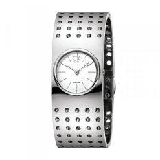 ขาย ซื้อ Calvin Klein Grid Women S Quartz Watch Stainless Strap Silver K8323120 Thailand