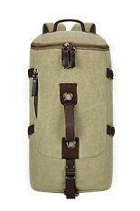 ราคา Canvas Backpack Casual High Capacity Travel Bag Mountaineering Bag Green ใน จีน