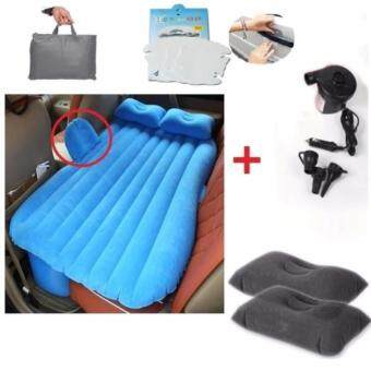 ที่นอนในรถ ที่นอนรถ ที่นอนเบาะหลังรถยนต์ ที่นอนเด็กในรถ เบาะนอนในรถ เบาะเด็กในรถ car air bed (blue)
