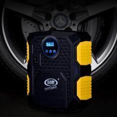 โปรโมชั่น Car Air Pump ปั๊มลมไฟฟ้าติดรถยนต์ ปั้มลม แบบพกพา อัตโนมัติ เครื่องเติมลม สูบลม เอนกประสงค์ รุ่นหน้าปัดดิจิตอล ถูก