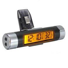 ขาย ซื้อ รถระบายอากาศแบบหนีบติดอยู่บนนาฬิกาอิเล็กทรอนิกส์ เครื่องวัดอุณหภูมิดิจิตอลแอลซีดีแสดงผลส้ม