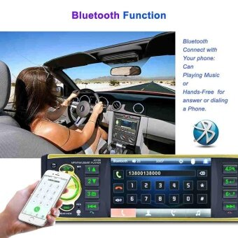 Car Bluetooth MP5 Player 4.1'' TFT Screen with Steering Wheel Remote Control