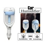 Car เครื่องฟอกอากาศ ในรถยนต์ ปรับความชื้น Car Humidifier Air Purifier Freshener Aromatherapy สีฟ้า Blue เป็นต้นฉบับ