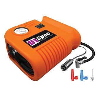 CAR pump ปั๊มลมไฟฟ้าติดรถยนต์ ปั้มลม แบบพกพา เครื่องเติมลมยาง สูบลม เอนกประสงค์ ปั้มลม สูบลมจักรยาน D1spec
