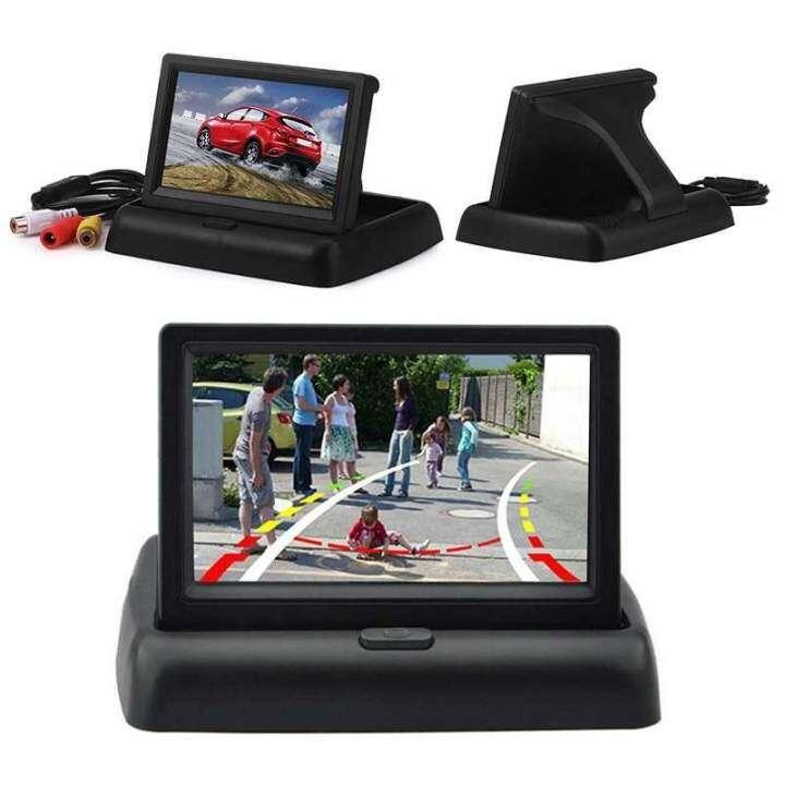 จอภาพรถยนต์ 4.3 จอแอลซีดีที่มีการตอบสนองสูงมุมมองด้านหลังหน้าจอแสดงภาพรถเครื่องเล่นวิดีโอ - INTL