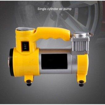 CAR pump 12V 150Psi ปั๊มลมไฟฟ้าติดรถยนต์ ปั้มลม แบบพกพา มีไฟฉุกเฉิน เครื่องเติมลมยาง สูบลม เอนกประสงค์ ปั้มลม สูบลมจักรยาน