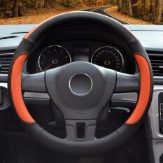 ขาย Car Steering Wheel Cover Diameter 15 Inch Pu Leather For Full Seasons Black And Orange Size L Intl เป็นต้นฉบับ