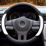 ราคา Car Steering Wheel Cover Diameter 15 Inch Pu Leather For Full Seasons Black And White Size L Intl จีน