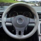 Car Steering Wheel Cover Genuine Leather Outside Diameter 35 5 36 Cm Stitching Flame Pattern Style Size S Gray Intl Luowan ถูก ใน จีน