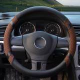 โปรโมชั่น Car Steering Wheel Covers Diameter 15 Inch Pu Leather For Summer Coffee Luowan