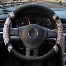 ซื้อ Car Steering Wheel Covers Diameter 15 Inch Pu Leather For Summer Gray ใหม่ล่าสุด