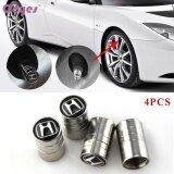 ทบทวน ที่สุด Car Styling Car Wheel Tire Valves Tyre Stem Air Caps Cover Case For Honda Civic Crv Accord Emblem Auto Accessories Stainless Steel 4Pcs Set Intl