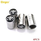 ขาย Car Wheel Tire Valves Tyre Stem Air Caps Cover Case For All Cars Emblem Auto Accessories Car Stying Stainless Steel 4Pcs Set Intl ใหม่