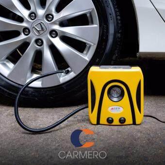 Carmero ปั๊มลม เครื่องสูบลม รถยนต์ จักรยานยนต์ เติมลมยาง ขนาดเล็ก ไฟฟ้า 2 in 1 ไฟฉาย Portable Mini Air Compressor Tire Inflator