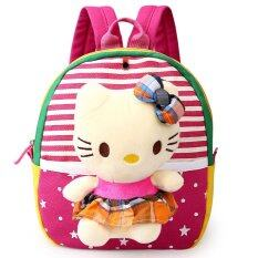 ขาย Cartoon Preschool Backpack Cute Kids Bag Rose Red Kitty Unbranded Generic ออนไลน์